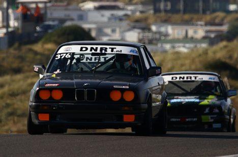 Delano Schriek Tijdens De Laatste Race Van De Bmw E30 Cup Op Circuit Zandvoort Met Ralph Disveld