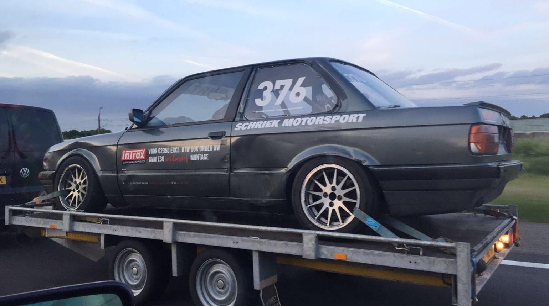 De Schade Na De Race In De Bmw E30 Cup Op Circuit Zolder