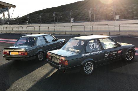 De Racer En De Nieuwe Bmw E30 Op Zandvoort