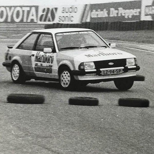 Ferry Schriek In De Ford Tijdens De Marlboro Challenge 1985